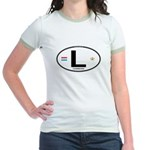 Luxembourg Euro Oval Jr. Ringer T-Shirt