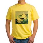 White Trumpeter Pigeons Yellow T-Shirt