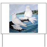 White Trumpeter Pigeons Yard Sign