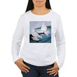 White Trumpeter Pigeons Women's Long Sleeve T-Shir