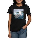 White Trumpeter Pigeons Women's Dark T-Shirt