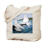 White Trumpeter Pigeons Tote Bag