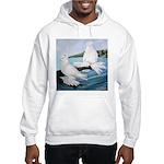 White Trumpeter Pigeons Hooded Sweatshirt