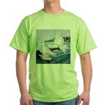 White Trumpeter Pigeons Green T-Shirt