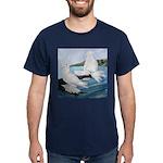 White Trumpeter Pigeons Dark T-Shirt