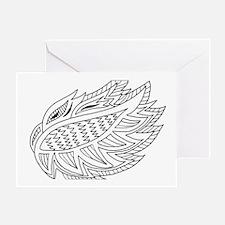 Unique Zen doodle art Greeting Card