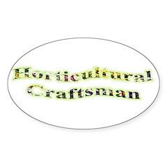 Horticultural Craftsman Oval Sticker