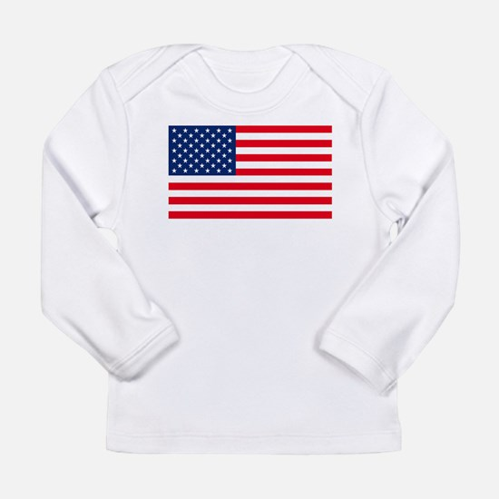 American Flag Long Sleeve Infant T-Shirt