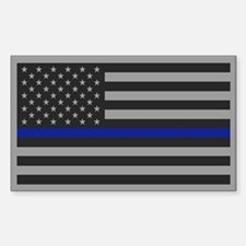 Thin Blue Line Gray Flag Decal