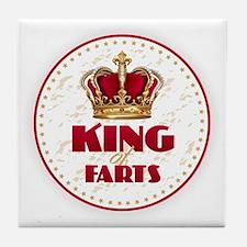 KING of FARTS Tile Coaster