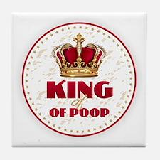 KING of POOP Tile Coaster