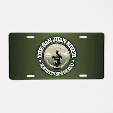 San Juan River Aluminum License Plate
