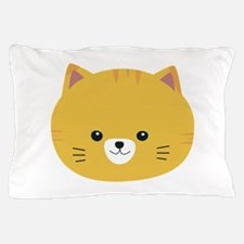 Cute tiger cat with yellow fur Pillow Case