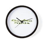Garden Ninja Wall Clock