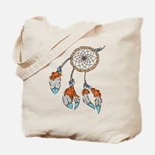Modern watercolor boho dreamcatcher feathers Tote