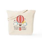 Third 3rd Birthday Hot Air Balloon Tote Bag