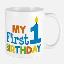 Boy's My First Birthday Mugs