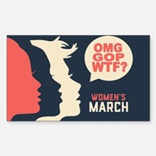Women's March: OMG GOP WTF Decal
