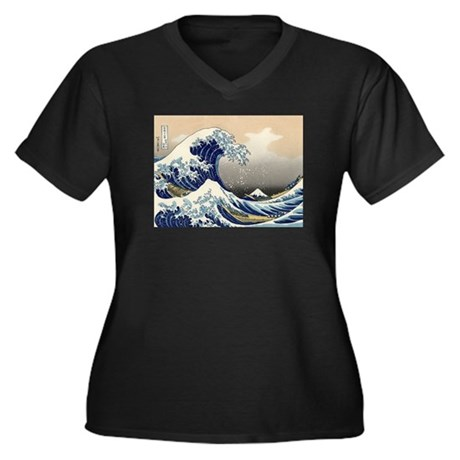 The Great Wave by Hokusai Women's Plus Size V-Neck