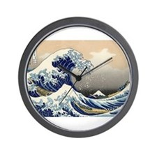The Great Wave by Hokusai Wall Clock