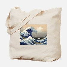 The Great Wave by Hokusai Tote Bag