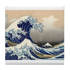 The Great Wave by Hokusai Tile Coaster