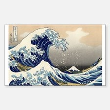 The Great Wave by Hokusai Rectangle Decal