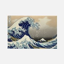 The Great Wave by Hokusai Rectangle Magnet