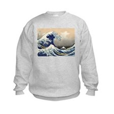 The Great Wave by Hokusai Sweatshirt