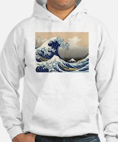The Great Wave by Hokusai Hoodie