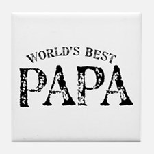 World's Best Papa Tile Coaster