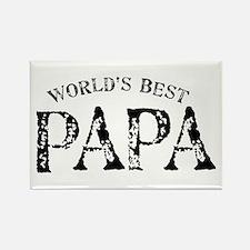World's Best Papa Rectangle Magnet