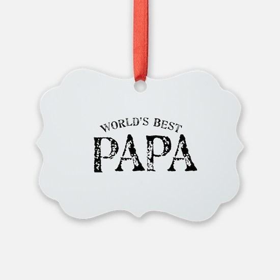 World's Best Papa Ornament