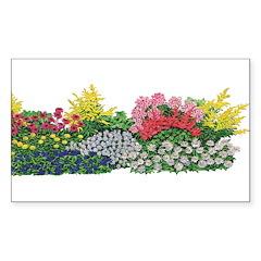 Flower Garden Rectangle Decal