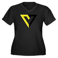 Voluntaryist Women's Plus Size V-Neck Dark T-Shirt