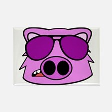 Cute Cool pig Rectangle Magnet