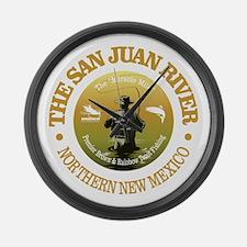 San Juan River Large Wall Clock