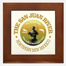 San Juan River Framed Tile