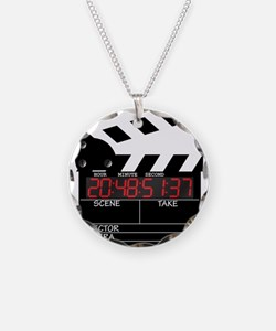 Digital Clapper Board Necklace