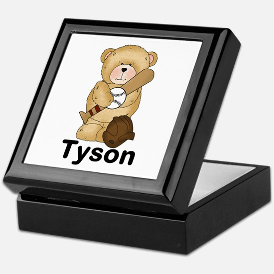 Tyson's Baseball Bear Keepsake Box