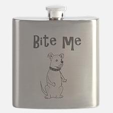 American Bulldog Cartoon Flask