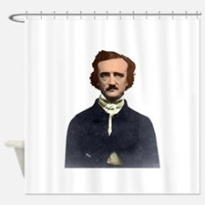 Colorized Edgar Allan Poe Photograp Shower Curtain