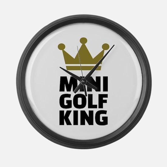 Minigolf King Large Wall Clock