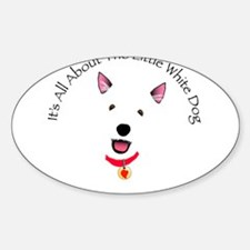 White Schnauzer Oval Decal