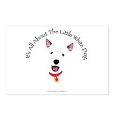 White Schnauzer Postcards (Package of 8)