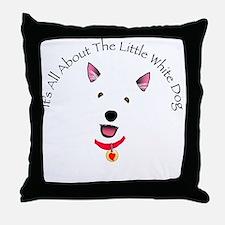 White Schnauzer Throw Pillow