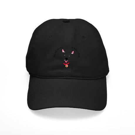 White Schnauzer Black Cap