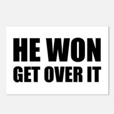 He Won Get Over It! Bold Postcards (Package of 8)