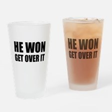 He Won Get Over It! Bold Drinking Glass