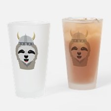 Sloth Viking with helmet Drinking Glass
